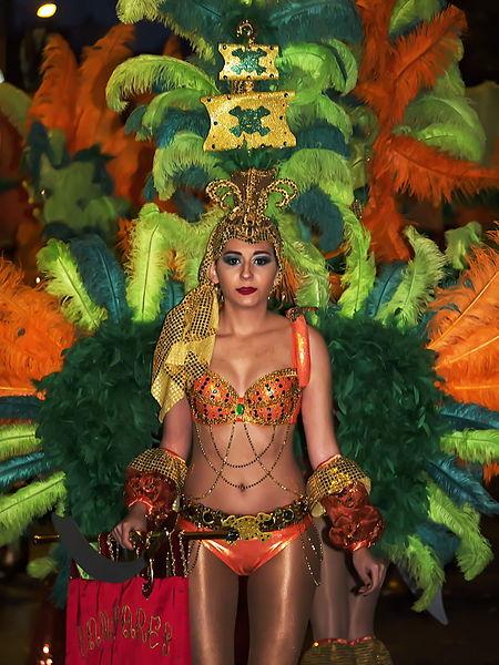 Murcia Carnival Dancing Girl
